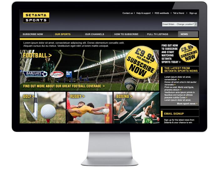 M Design - Web - Setanta Sports